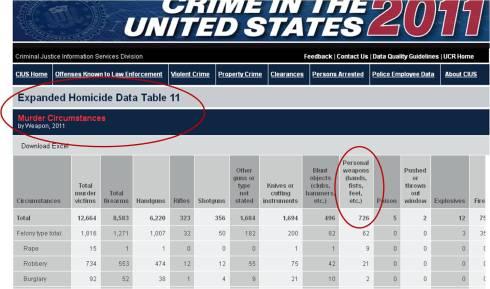 FBI 2011 Homicide Data
